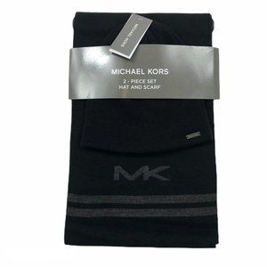 Michael Kors Men's Reversible MK Logo Knit Scarf a